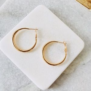 Minimal Gold Plated Hoop Earrings
